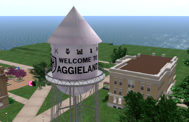 Historic Aggieland Water Tower, a re-creation