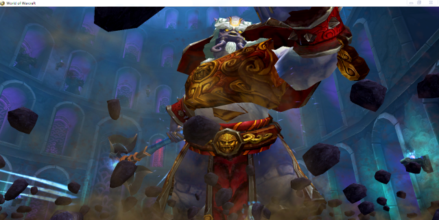 Mogu boss - dead toon view (Mists of Pandaria)