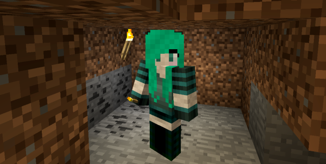 New skin from Planet Minecraft - my guy is now a girl