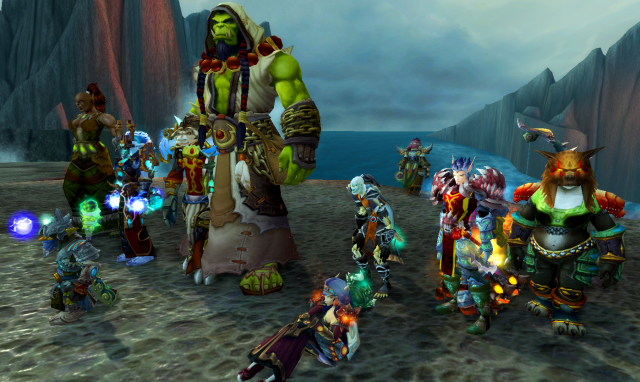 Dragon Soul raid team with Thrall in the middle