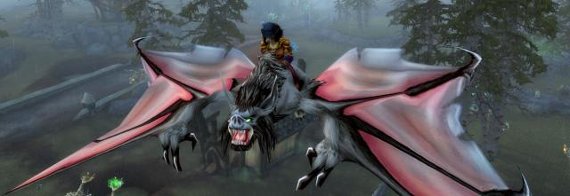Yvyy off on a mission on a Forsaken bat