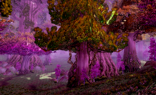 A Teldrassil forest