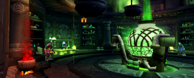 An undead apothecary laboratory