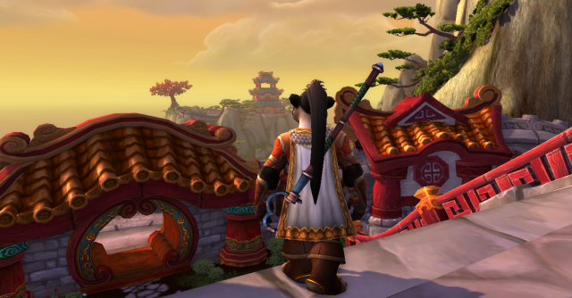 Yilien saying good-bye to Wandering Isle as she leaves to join the Alliance