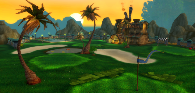 The only golf course in Azeroth – at Gallywix Pleasure Palace in Azshara (WoW 2015)